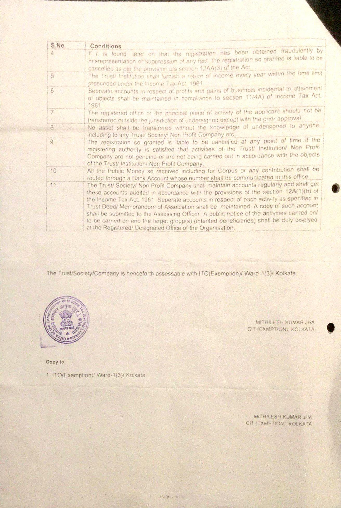 12AA Certificate